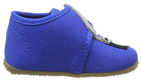 Living Kitzbühel Baby Klett - Zapatillas de casa Bebé-Niñas Blau (Blue Coral)