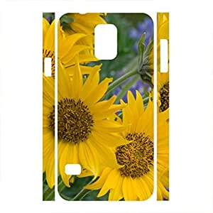 Retro Sunflower Floral Pattern Hard Phone Case for Samsung Galaxy S5 I9600