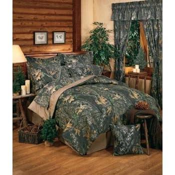 New Break Up Mossy Oak Camouflage Comforter Set, Queen