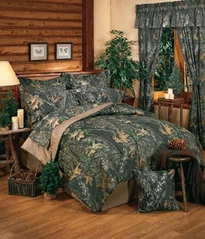 - New Break-Up Mossy Oak Camouflage Comforter Set, Queen