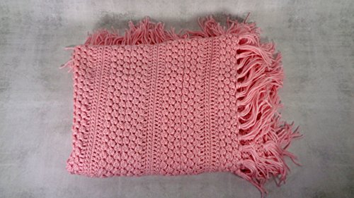 Pink baby infant child crib cover blanket afghan throw baby shower gift by BrittanyAnnsBoutique