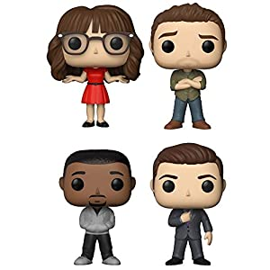 "Funko Pop! TV: New Girl Collectible Vinyl Figures, 3.75"" (Set of 4)"