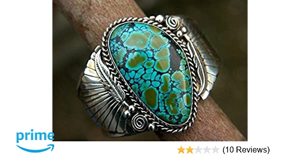 Silver Natural Turquoise CZ Women Men Jewelry Wedding Engagement Ring Sz6-10