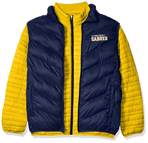 G-III Sports NHL Buffalo Sabres Men's Three & Out 3-in-1 Systems Jacket, Large, Gold/Navy ()