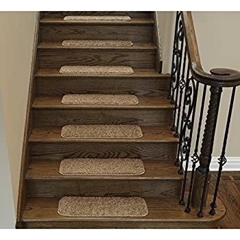 Superieur Ottomanson CST6001 14Pack Comfort Collection Soft Solid (Non Slip) Shag Carpet  Stair
