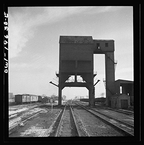 1943 Photo Baring, Missouri. The coal chute along the Atchison, Topeka, and Santa Fe Railroad between Fort Madison, Iowa and Marceline, Missouri Location: Baring, Knox County, Missouri