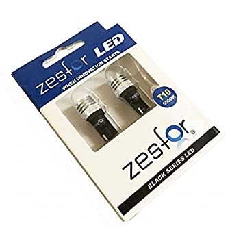 Zesfor Bombillas LED Blanco Diamante W5W/T10 Black Series: Amazon.es: Coche y moto