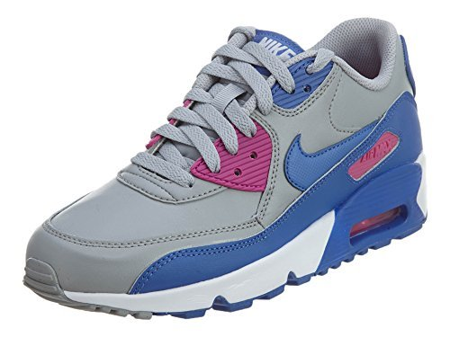 watch 225cd 3de9e Galleon - Nike Air Max 90 LTR Big Kid s Shoes Wolf Grey Comet Blue Fire  Pink 833376-008 (6.5 M US)