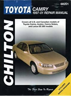 Toyota camry 1997 thru 2001 all models includes avalon solara toyota camry chiltons 1997 2001 repair manual fandeluxe Choice Image