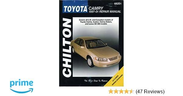Toyota Camry Chilton S 1997 2001 Repair Manual Chilton