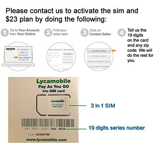 Number With amp; Card Plan Text com Service Existing Accessories Month Amazon Port Talk Cell Preloaded Unlimited Phones 23 In Lycamobile You Sim Data And 1