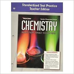 glencoe chemistry test practice teacher edition matter and change