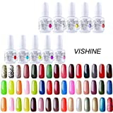 Choisir Lot de 10 Vernis à ongles Gel Semi-permanent UV LED Soak Off Base Top Coat Manucure Kit