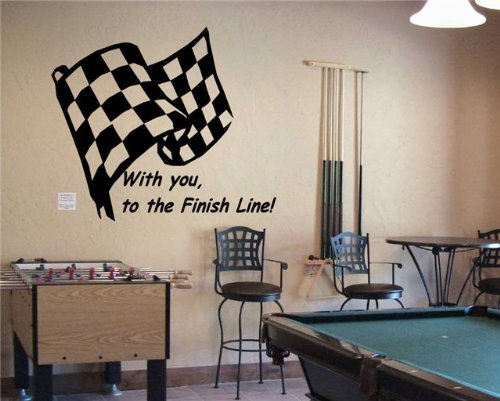 Checkered Flag Formula 1 FIA Racing Wall Art Sticker Decal 1