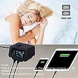 【Upgraded】 Digital Alarm Clock, FM