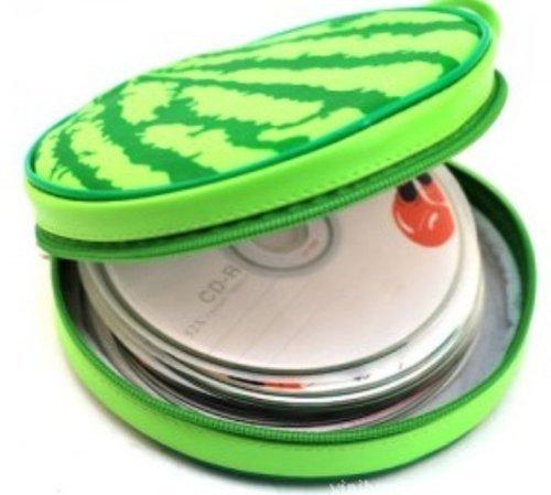 Cute Design Football Basketball Watermelon Tire and Hamburger Shape CD Storage Case Bag Baskeball