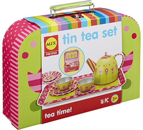 (ALEX Pretend Tin Tea Set)