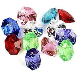 jollylife Acrylic Diamond Gems Jewels Pirate Treasure Chest Hunt Party Favors(36 PCS)