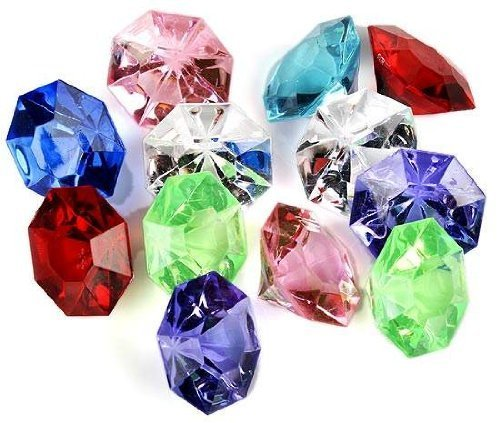 Adult Treasure Chest Pirate - jollylife Acrylic Diamond Gems Jewels Pirate Treasure Chest Hunt Party Favors(36 PCS)