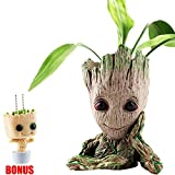 Baby Groot Flower Pot Containers Guardians of The Galaxy Succulent Pen Pot Desk Organizer Creative Decoration Gifts