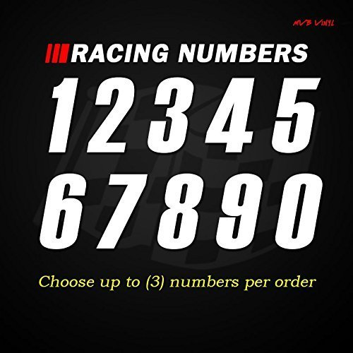 Racing Numbers Vinyl Decal Sticker 631 - Plate Numbers Style 9