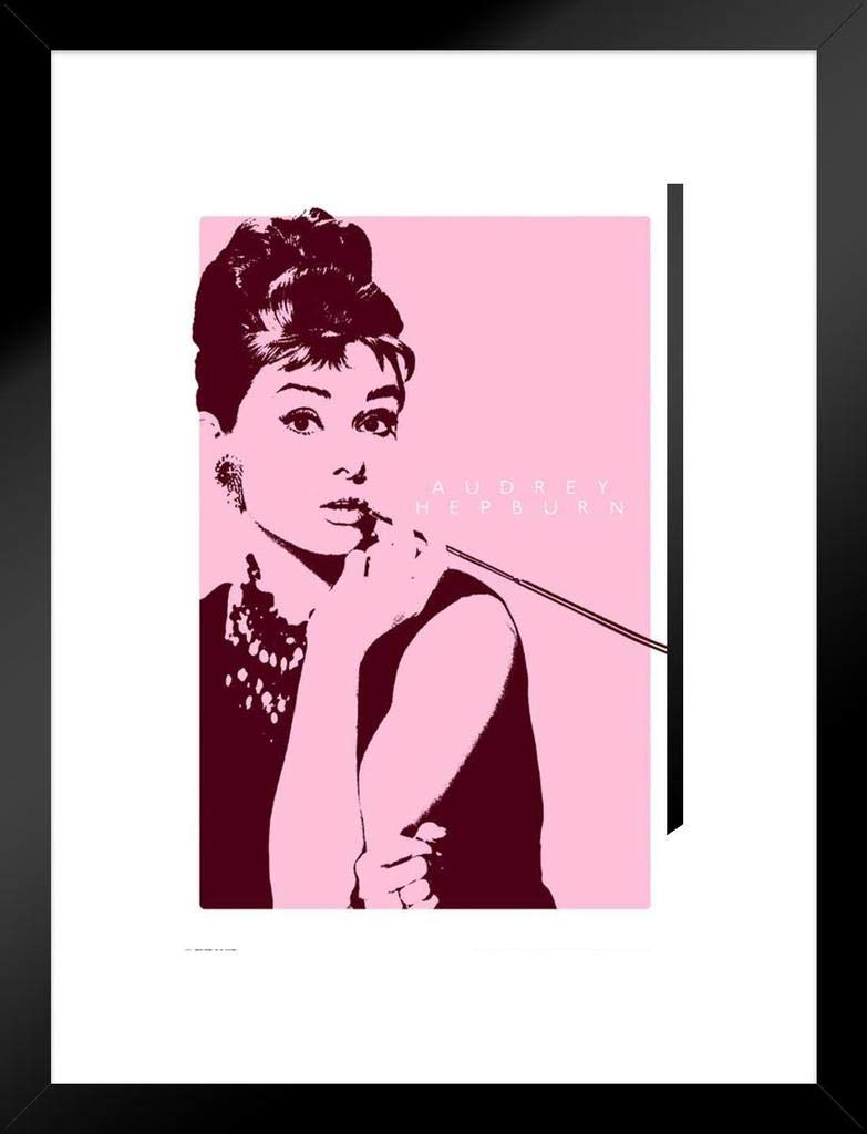 Pyramid America Audrey Hepburn Cigarillo Matted Framed Poster Poster 20x26 inch