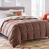 LINENSPA All-Season Reversible Down Alternative Quilted Comforter - Corner Duvet Tabs -...