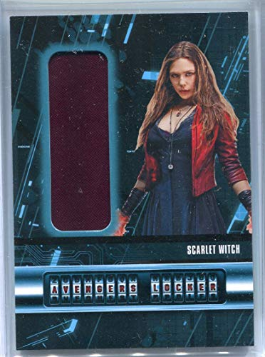 Scarlet Witch Wanda Maximoff (Trading Card) 2015 Upper Deck AVENGERS Age of Ultron Locker Movie - Costume #AL-W Swatch Memorabilia Costume Wardrobe Elizabeth Olsen (Avengers Age Of Ultron Scarlet Witch Costume)