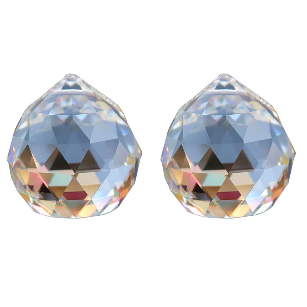 OUNONA Kristallkugel Kristal Prismen für Lampe Kronleuchter Sonnenfänger zum Aufhängen 2 Stück