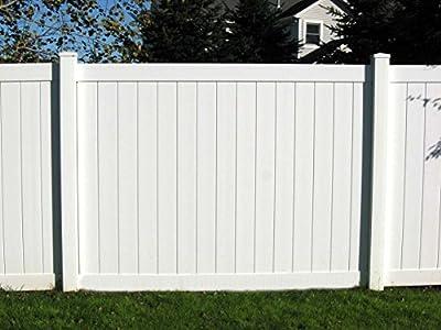 Vinyl Privacy Fence Panel Kit 6'X8'