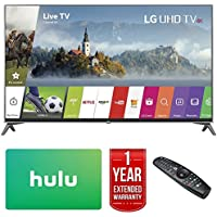 LG 60UJ7700-60-inch Super UHD 4K HDR Smart LED TV (2017 Model) w/Hulu $25 Gift Card + 1 Year Extended Warranty