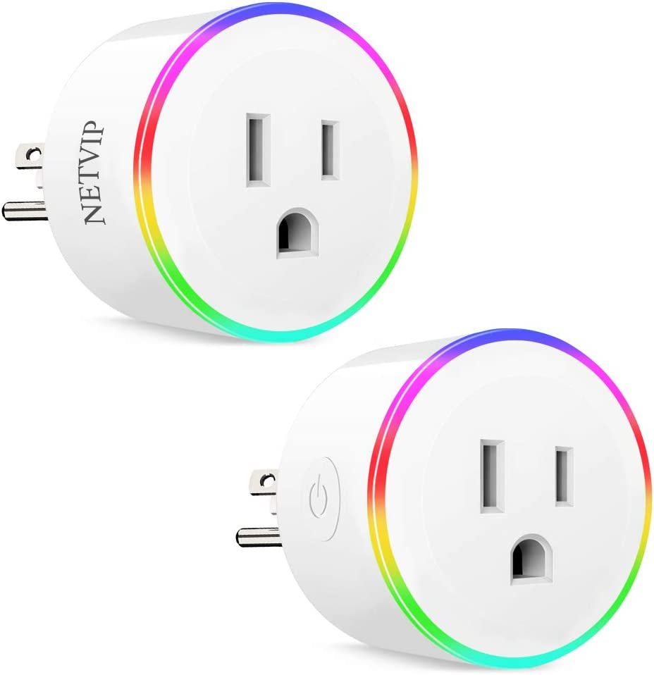 ETL and FCC Certified WiFi Smart Plug Compatible with  Alexa Google Home IFTTT for Voice Control Wireless Mini Socket with RGB light Remote Control Your Home Appliances from Anywhere
