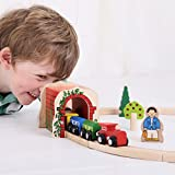 Bigjigs Rail Wooden Red Brick Tunnel - Other Major Rail Brands are Compatible