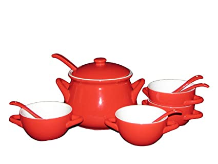sengWare Limited Edition 11-Piece Tureen and French Bowls Set Red  sc 1 st  Amazon.com & Amazon.com | sengWare Limited Edition 11-Piece Tureen and French ...