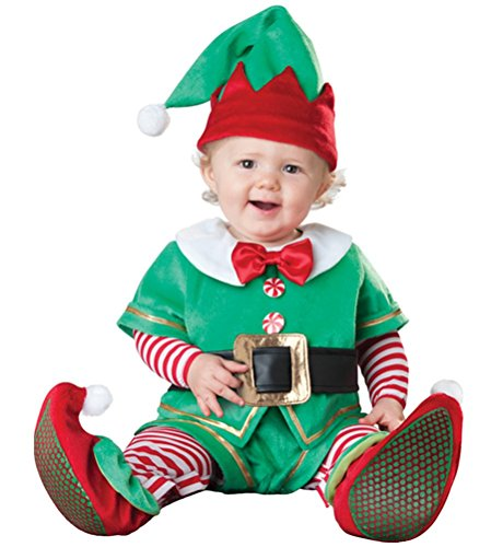 Christmas Elf Costume Infant, Baby Boy Girl Cute Halloween Spirit Cosplay Outfit 6 Months-2T (18 (Cosplay Outfits For Sale)