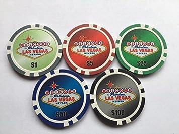 Las Vegas Poker Chip pelota de golf Marcadores. Set de 5: Amazon.es: Deportes y aire libre