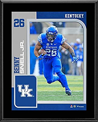 "Benny Snell Jr. Kentucky Wildcats 10.5"" x 13"" Sublimated Player Plaque - College Team Plaques and Collages"