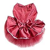 Baost Pet Cat Dog Gauze Princess Tutu Dress Skirt Cat Puppy Small Girl Dog Clothes