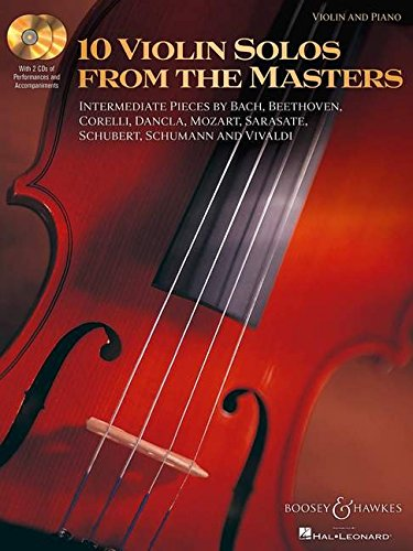 Download 10 Violin Solos from the Masters: Violin and Piano With two CDs of performances and accompaniments Book/2-CD Pack PDF