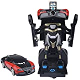 Egoelife Electric Deformation Transformers Simulation Robot Car Model Toy