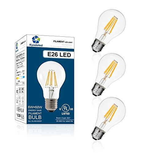 Used, Led Light Bulbs E26, A19 LED Filament Bulb 6W, 60W for sale  Delivered anywhere in USA