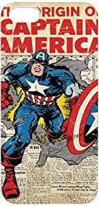 Captain America Iphone 5 / 5s Case, Marvel Comics Cartoon Avengers Captain America Logo Red Colorful Cool Apple iPhone 5/5s Hard Case Covers at NewOne