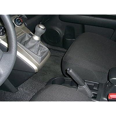 RedlineGoods Shift Boot Compatible with Scion xB 2008-15. Black Alcantara-Silver Thread: Automotive