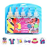 Tie Dye DIY Kit,5 Colors Shirt Fabric Tie Dye Kit for Kids,Adults Non-Toxic Vibrant Tie Dye Supplies with Rubber Bands,Gloves for DIY Arts and Crafts (Color: 5 Colors-B)