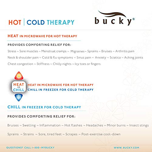 Bucky Hot & Cold Therapeutic Travel Eye Pillow, Silk Blossom