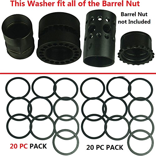FieldSport AR Free Float Handguard Rail Barrel Nut Washer Shims -20 PC Pack. For 223/556 (Barrel Nut Ar)