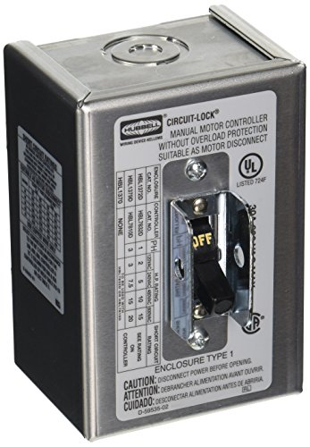 Hubbell Disconnect Switch - Hubbell HBL1372D2 Pole Disconnect Switch with NEMA 1 Enclosure, 30 amp, 600V