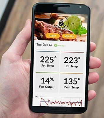 Flame Boss 200-WiFi Kamado Grill & Smoker Temperature Controller
