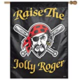 MLB Pittsburgh Pirates Jolly Roger Vertical Flag, 27 x 37""