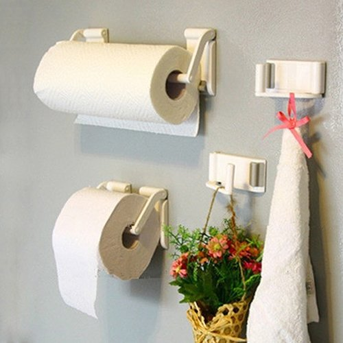 Bluelans® Magnetic Paper Towel Bathroom Hold Holders Kitchen Paper Towel Rack Roll Holder